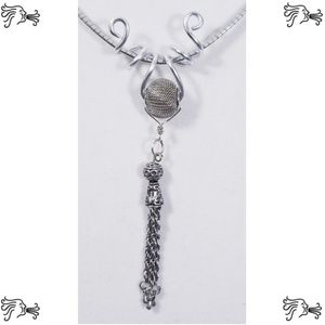 Aluminum Silver Spiral Pendant Silver Wire Bead